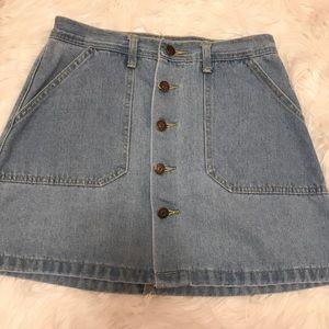 button down jean skirt!